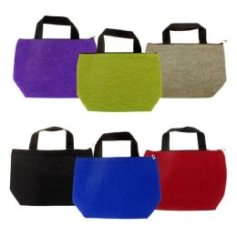 24 Units of Insulated Lunch Tote in 6 Assorted Colors - Lunch Bags & Accessories