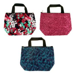 24 Units of Insulated Lunch Tote In 3 Assorted Prints - Lunch Bags & Accessories