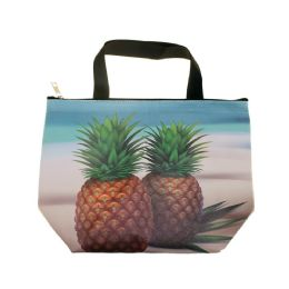 24 Units of Insulated Lunch Tote in Pineapple Print - Lunch Bags & Accessories