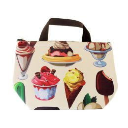 24 Units of Insulated Lunch Tote in Ice Cream Print - Lunch Bags & Accessories