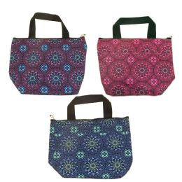 24 Units of Insulated Lunch Tote in 3 Assorted Kaleidoscope Prints - Lunch Bags & Accessories