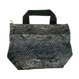 24 Units of Insulated Lunch Cooler Tote Bag In Snake Print - Lunch Bags & Accessories
