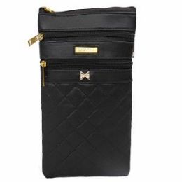 12 Units of Fashion Bag With Gold Double Zipper - Handbags