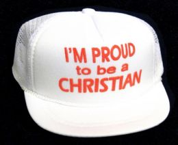 "24 Units of Infant ""I'M PROUD TO BE A CHRISTIAN"" hat in assorted colors - Baby Apparel"