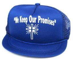 "24 Units of ""WE KEEP OUR PROMISES"" printed infant hats in assorted colors - Baby Apparel"