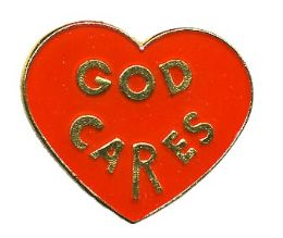 "96 Units of Brass Hat Pin, ""God Cares"", - Hat Pins & Jacket Pins"