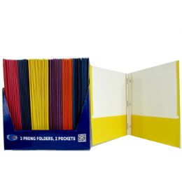 100 Units of Twin Pocket Folders with Fasteners - Folders and Report Covers