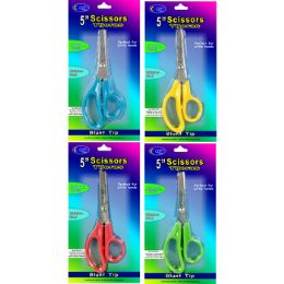 """48 Units of 5"""" Safety Scissors With Blunt Tips - Scissors"""
