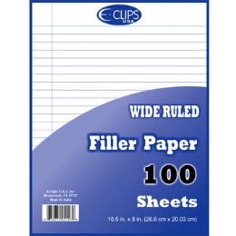 60 Units of Wide Ruled Filler Paper - 100 Sheets - Paper