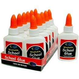 72 Units of Washable White School Glue - Glue Office and School