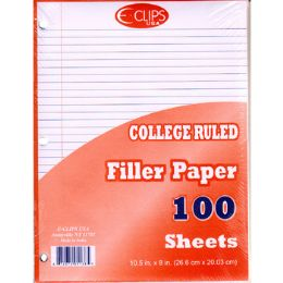 60 Units of Filler Paper College Ruled - 100 Sheets - Paper