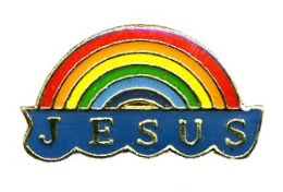 "96 Units of Brass Hat Pin, ""jesus"" Rainbow - Hat Pins & Jacket Pins"