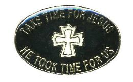"96 Units of Brass Hat Pin, ""take Time For Jesus - He Took Time For us - Hat Pins & Jacket Pins"
