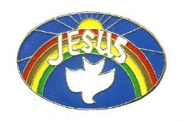 """96 Units of Brass Hat Pin, """"Jesus"""" w/ dove and rainbow - Hat Pins & Jacket Pins"""