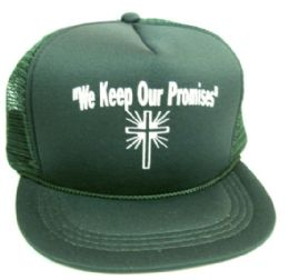 """48 Units of Youth mesh back printed hat, """"WE KEEP OUR PROMISES"""", assorted colors - Kids Baseball Caps"""