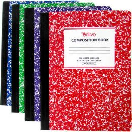 48 Units of Premium Wide Ruled Composition Notebook - Assorted - Notebooks