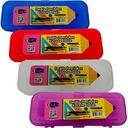 24 Units of Double Sided Pencil Box - Pencil Boxes & Pouches