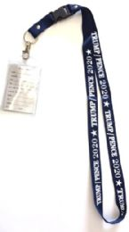 48 Units of Trump / Pence 2020 Lanyards - navy blue - ID Holders