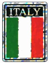 """96 Units of 3"""" x 4"""" Decal, Italy, - Stickers"""