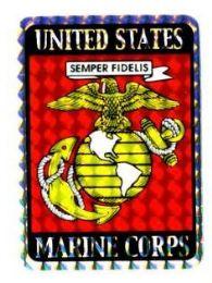 "96 Units of 3"" x 4"" decal, U.S. Marine Corps - Stickers"