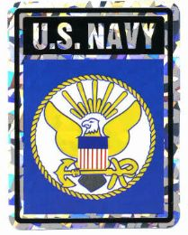 """96 Units of 3"""" x 4"""" decal, U. S. Navy - Stickers"""