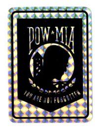 "96 Units of 3"" x 4"" Decal, POW-MIA, - Stickers"