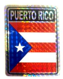 """96 Units of 3"""" x 4"""" Decal, Puerto Rico - Stickers"""