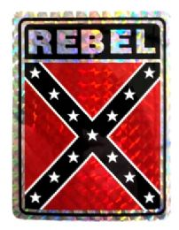 """96 Units of 3"""" x 4"""" Rebel decal - Stickers"""