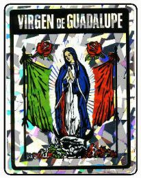 """96 Units of 3"""" x 4"""" Decal, Virgen de Guadalupe - Stickers"""