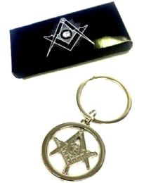 "24 Units of Metal Masonic ""spinner"" keychain, individually boxed - Key Chains"