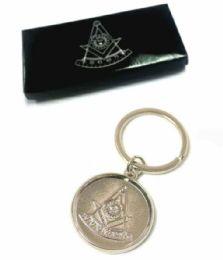 36 Units of Metal Masonic keychains, individually boxed - Key Chains