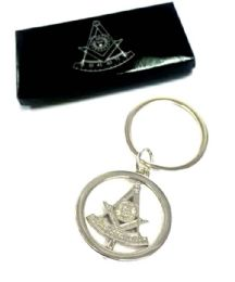 """24 Units of Metal Masonic """"spinner"""" keychain, individually boxed - Key Chains"""