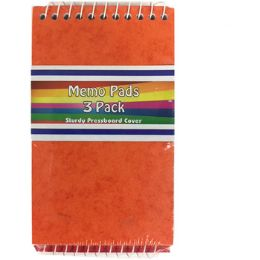 48 Units of 3-Pack Memo Pad - Assorted Colors - Notebooks