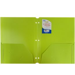60 Units of Premium Snap-In Plastic 2 Pocket Folders - Assorted Colors - Folders and Report Covers