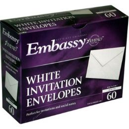 "24 Units of White Invitation Envelopes - 60 ct - 4 3/8"" x 5 3/4"" - Envelopes"