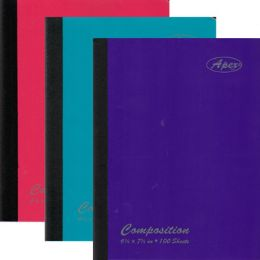 "48 Units of 100 Sheet Poly Cover Composition Notebook - 9.75"" x 7.5"" - Notebooks"