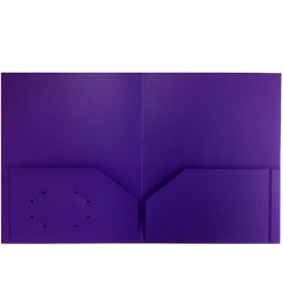 144 Units of Purple Plastic Two Pocket Folders - Folders and Report Covers