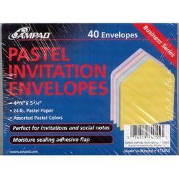 24 Units of Pastel Invitation Envelopes - Envelopes