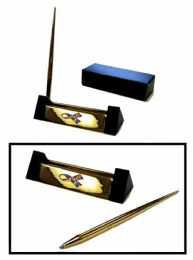 """12 Units of Brass pen set with metal Autism awareness insignia, 5"""" wide - Pens"""