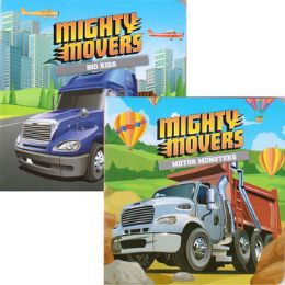 48 Units of Children's 'Mighty Movers' Board books - Baby Toys