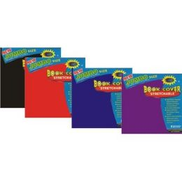 60 Units of Jumbo Book Cover - Strecthable-Assorted Colors - Book Covers