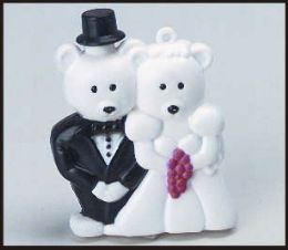 96 Units of Bride and groom bear bubbles - Bubbles