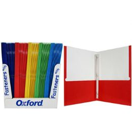 100 Units of Oxford Twin Pocket Folders with Fasteners - Folders and Report Covers