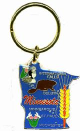 """36 Units of Heavy brass keychain, MINNESOTA, state is approx. 1.75"""" in size - Key Chains"""