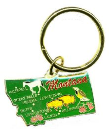 """36 Units of Heavy brass keychain, MONTANA, state is approx. 1.75"""" in size - Key Chains"""