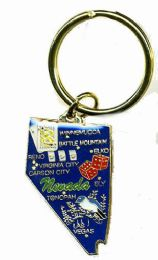 """36 Units of Heavy brass keychain, NEVADA, state is approx. 1.75"""" in size - Key Chains"""