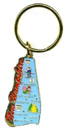 """36 Units of Heavy brass keychain, NEW HAMPSHIRE, state is approx. 1.75"""" in size - Key Chains"""