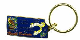 """36 Units of Heavy brass keychain, NORTH DAKOTA, state is approx. 1.75"""" in size - Key Chains"""