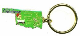 """36 Units of Heavy brass keychain, OKLAHOMA, state is approx. 1.75"""" in size - Key Chains"""