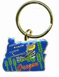 """36 Units of Heavy brass keychain, OREGON, state is approx. 1.75"""" in size - Key Chains"""